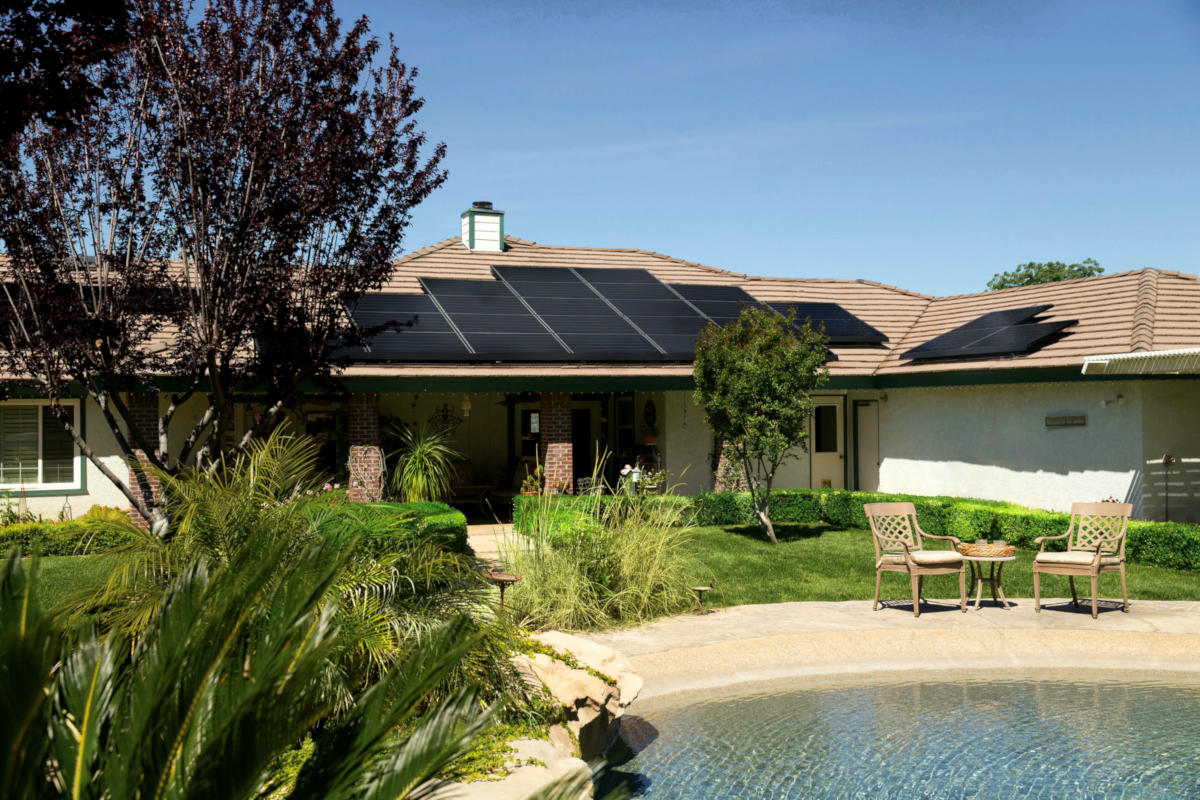 residential home with rooftop solar